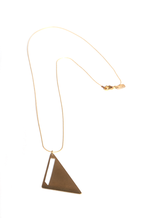 Negative Space Brass Triangle (Unisex)