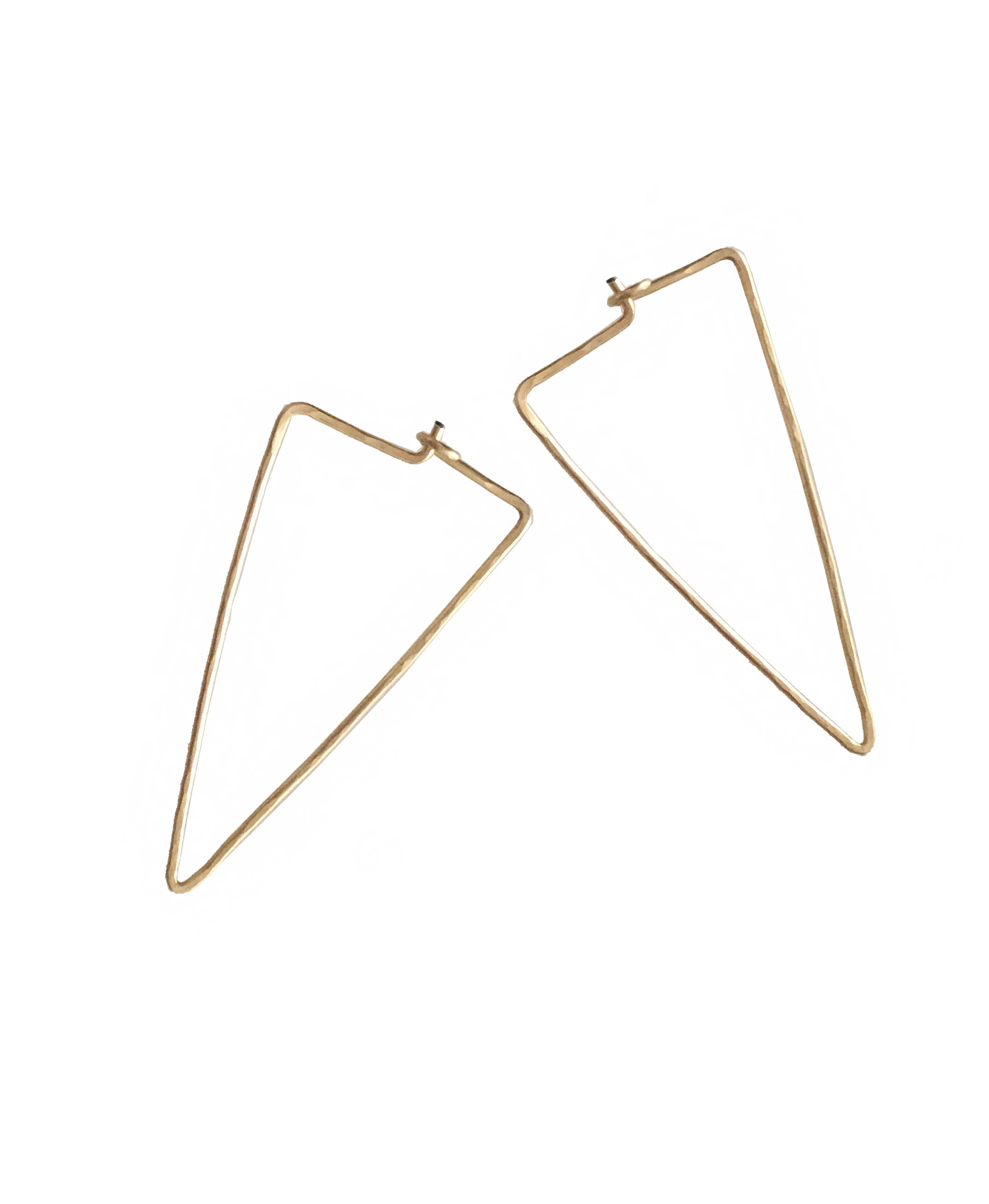 Gold Triangel Earrings